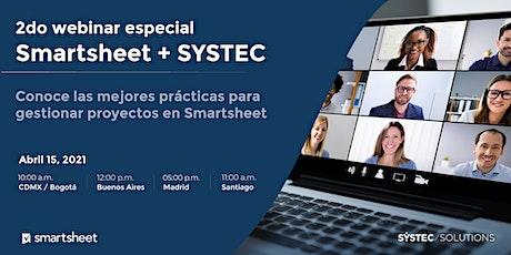 2do webinar especial Smartsheet + SYSTEC entradas