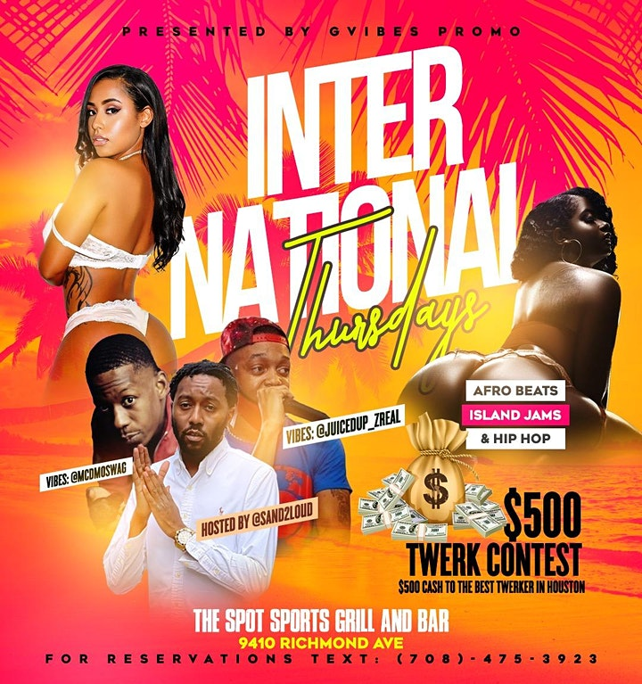 International Thursdays at The Spot Sports Grill and Bar image
