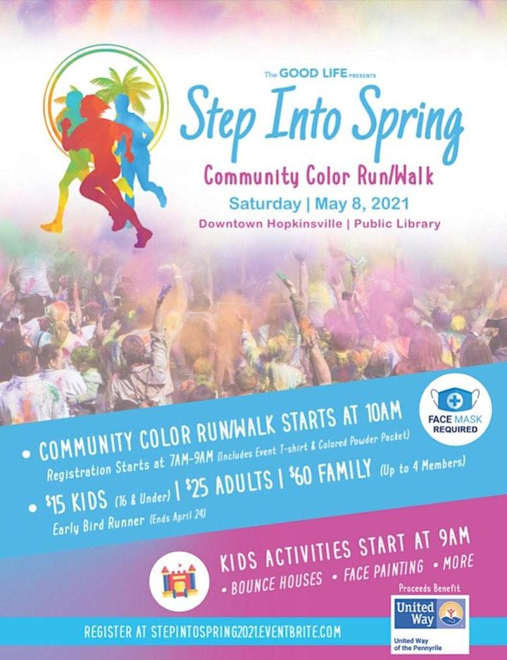 Step Into Spring Community Color Run/Walk 2021 image