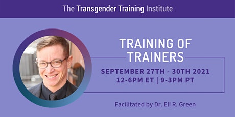 TTI's Training of Trainers - ONLINE - September 27-30, 2021 tickets