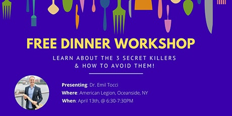 Dinner With The Doc Workshop - Dinner Included tickets