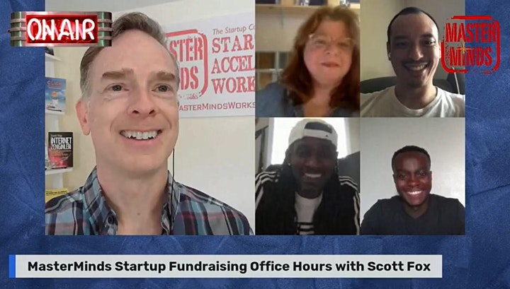 Free MasterMinds Tech Startup Office Hours with Startup Expert Scott Fox image