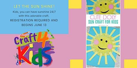 Craft 4 Kids: Doily Sun Craft tickets