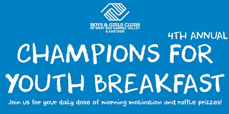 4th Annual Champions for Youth Breakfast tickets