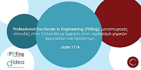 Professional Doctorate in Engineering, Μεταπτυχιακές Σπουδές στην  Ολλανδία tickets