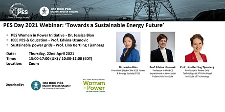 PES Day 2021 Webinar: Towards a Sustainable Energy Future tickets