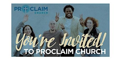 Proclaim Church Sunday Service tickets