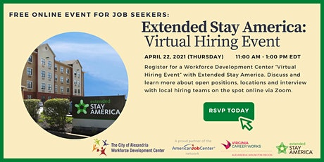 Meet the Employer Virtual Hiring Event: Extended Stay America tickets