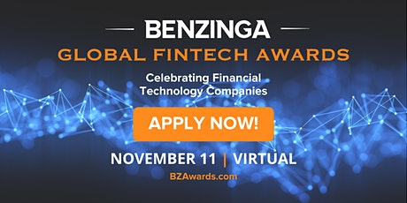 Benzinga Global Fintech Awards 2021 entradas