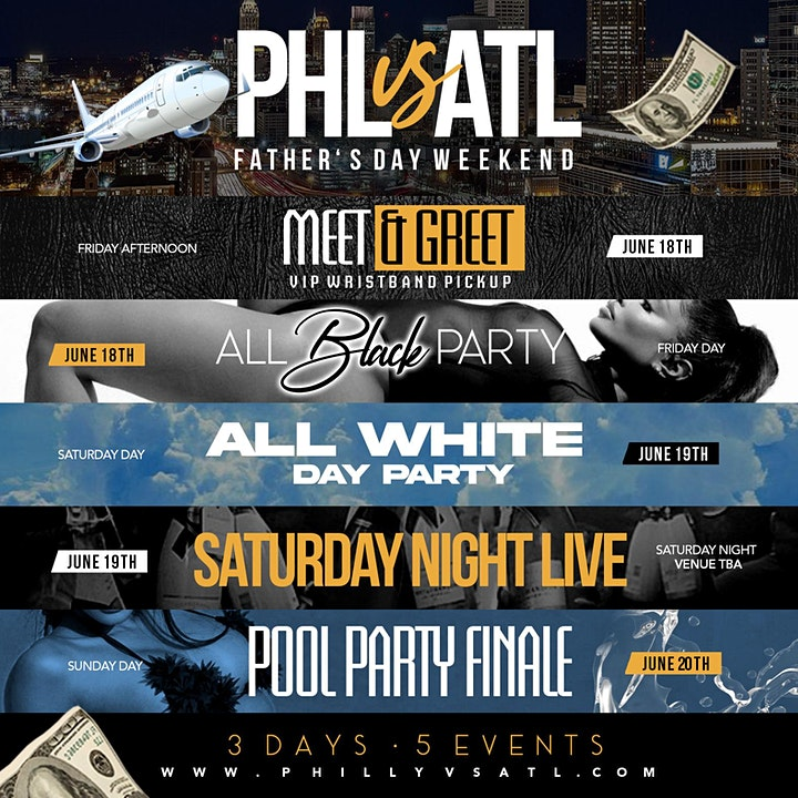 5th Annual Philly to Atlanta Weekend. 5 Events 3 Days 1 Low Price. 3 Night image