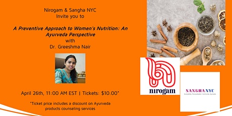A Preventive Approach to Women's Nutrition : An Ayurveda Perspective tickets