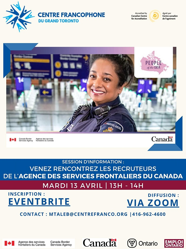 Session d'information :Agence des services frontaliers du Canada image