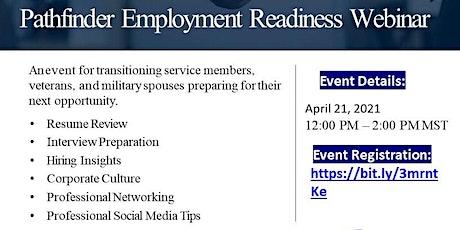 Pathfinder Employment Readiness Webinar tickets