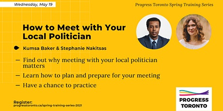 Spring Training Series: How to Meet with Your Local Politician tickets