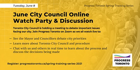 Spring Training Series: June City Budget Online Watch Party & Discussion tickets