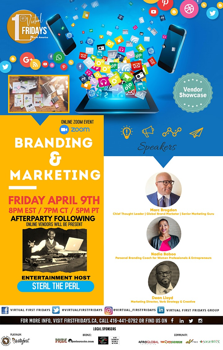 *RESCHEDULED - Virtual 1st Fridays - Branding & Marketing Forum & Showcase image