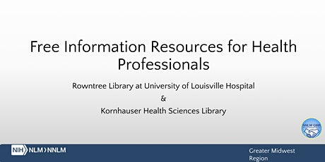 Free Research Resources for Health Professionals tickets