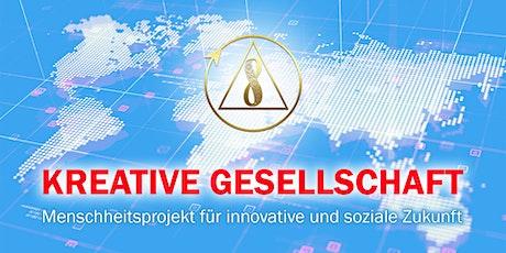 Präsentation des weltweiten Projektes Kreative Gesellschaft Tickets