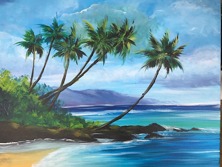 Chill & Paint Friday Night  Auck City Hotel  - Tropical Seascape image