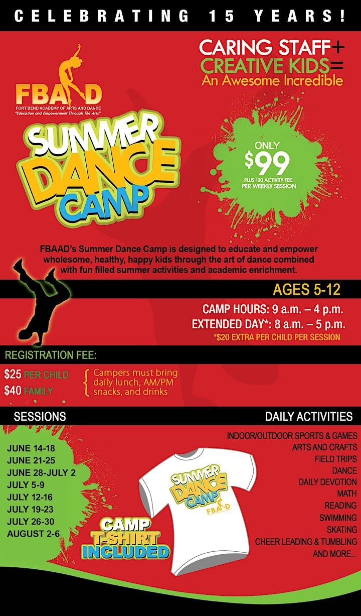 FBAAD Summer Dance Camp Experience!  Ages 5-12 Multiple Sessions image