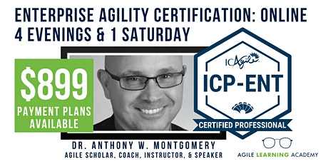 ICAgile Mastering Agility in the Enterprise (ICP-ENT) | Online | Jun 2021 tickets