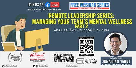 Remote Leadership Series: Managing Your Team's Mental Wellness, Part 2 tickets