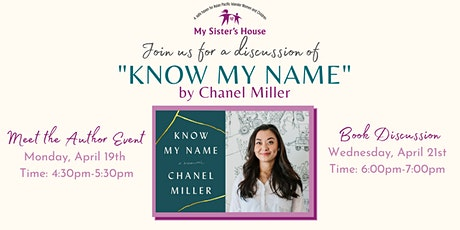 "Chanel Miller's ""Know My Name"" Book Discussion with My Sister's House tickets"