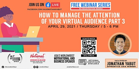 How To Manage Attention Of Your Audience In Virtual Meetings, Part 3 tickets