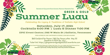 GHS Green & Gold Summer Luau tickets