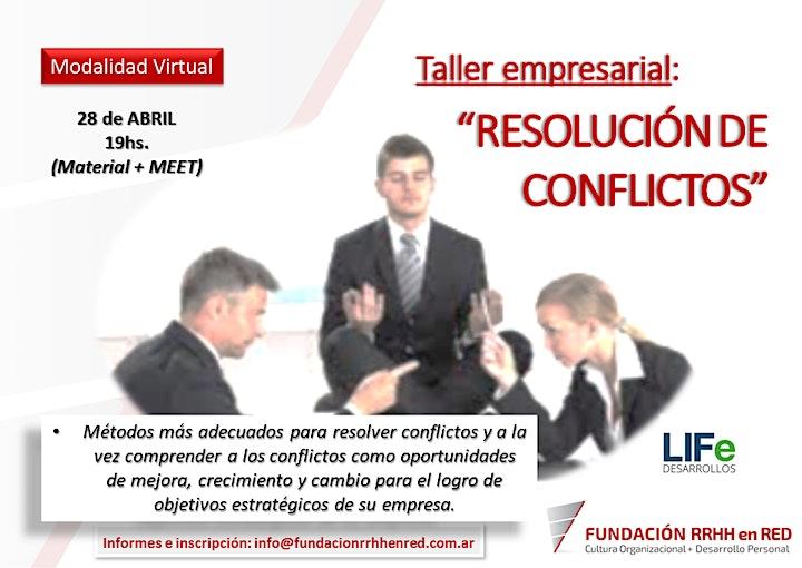 """Imagen de Taller Empresarial - """"RESOLUCIÓN DE CONFLICTOS"""""""