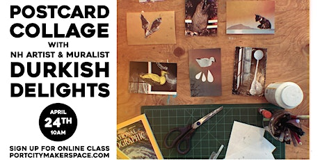 Postcard Collage with Durkish Delights tickets