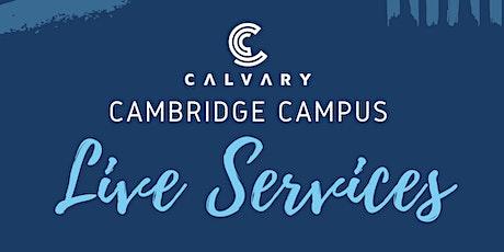 Cambridge Campus LIVE Service - APRIL 11 (10AM) tickets