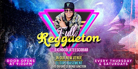 FULL REGGAETON SATURDAY 24/04 AT EL TOPO BASEMENT tickets