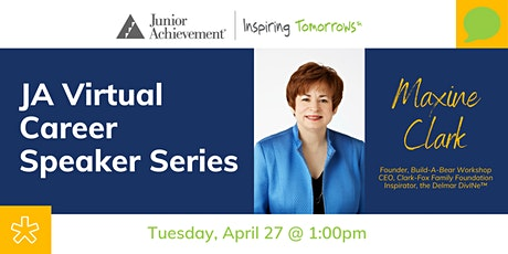 JA Virtual Career Speaker Series with Maxine Clark tickets