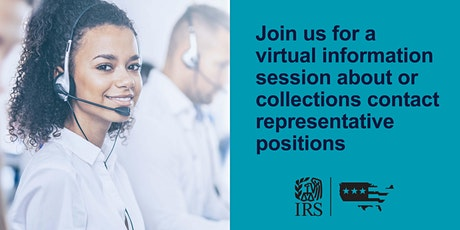 IRS Virtual Information Session about the Contact Representative position tickets