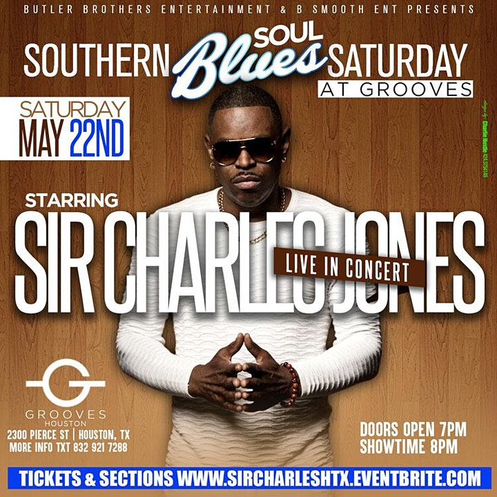 Houston Texas Sir Charles Jones LIVE in Concert @ Grooves image