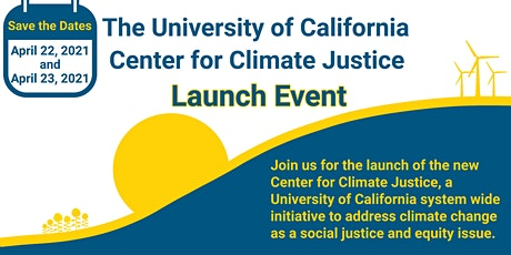UC Center for Climate Justice Launch Event ingressos