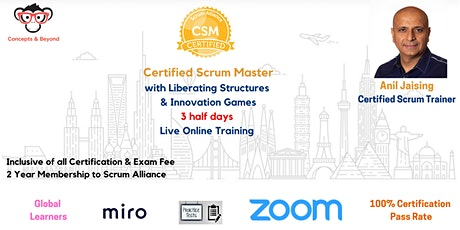 Certified ScrumMaster with Liberating Structures and  Innovation Games entradas