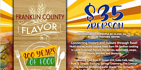 Franklin County Flavor: 300 Years of Food tickets