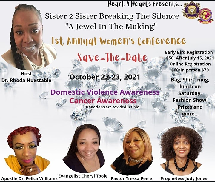 """Save-The-Date: Sister 2 Sister Breaking The Silence """"A Jewel In The Making"""" image"""