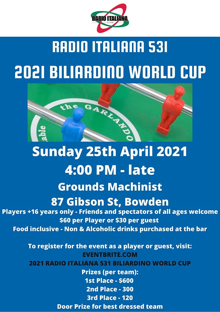 2021 RADIO ITALIANA 531 BILIARDINO WORLD CUP image