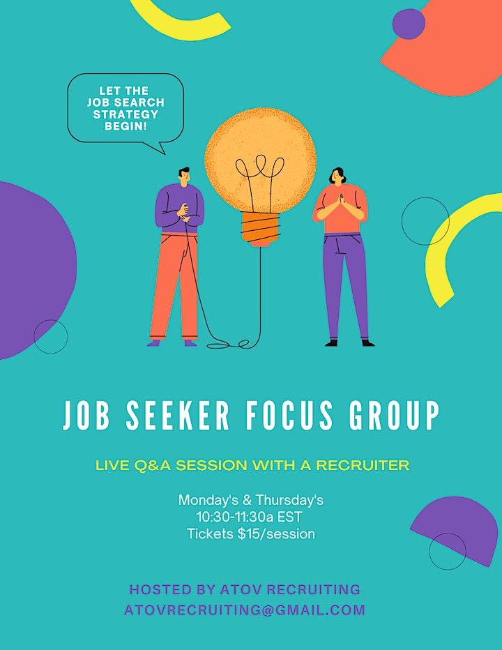 Job Seeker Focus Group image