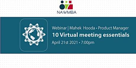 10 Virtual Meetings Essentials tickets