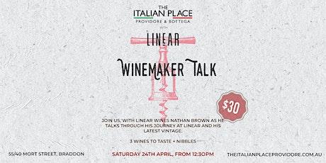 Winemaker talk - Linear Wines tickets