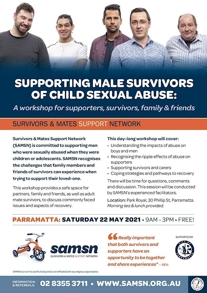Supporters & Survivors Workshop - Parramatta - 22nd May 2021 image
