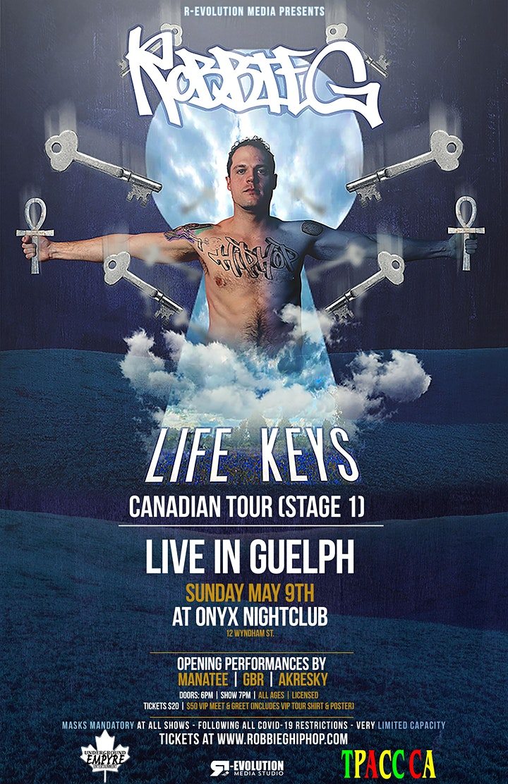 Robbie G live in Guelph May 9th at Onyx Nightclub image