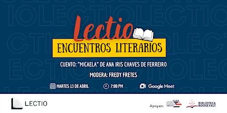 Lectio: Encuentros literarios  - Edición Abril entradas
