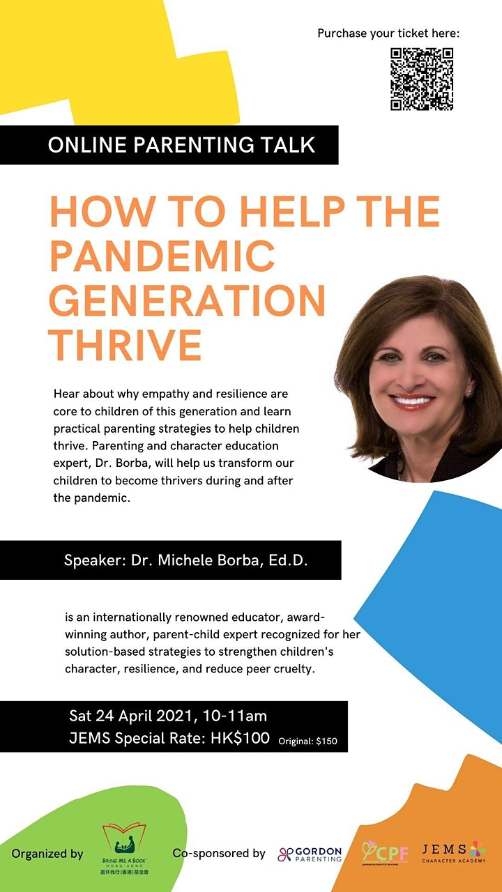 Dr. Michele Borba Talk: How to Help the Pandemic Generation Thrive image