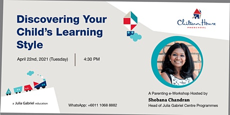 Discovering Your Child's Learning Style (Parenting e-Workshop) tickets