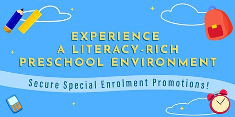 Learn more about our preschool's Literacy SMART programme tickets